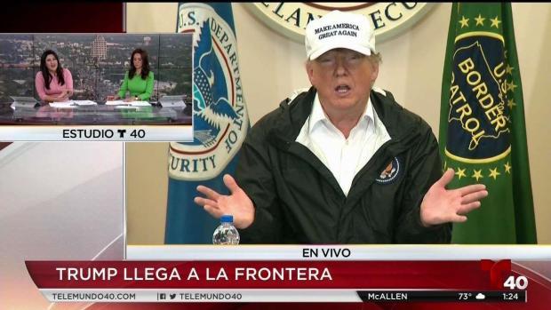 """[TLMD - LV]  """"Una rueda funciona, un muro funciona"""", asegura Trump"""