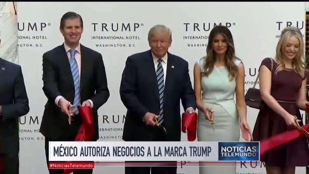Trump registra sus marcas para negocios en México