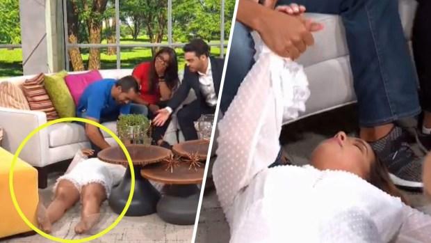 """[TLMD - LV] Video: Adamari López """"se desmaya"""" al aire en Un Nuevo Día"""