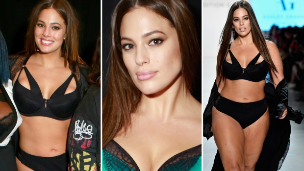 Modelo plus Ashley Graham se roba show en lencería