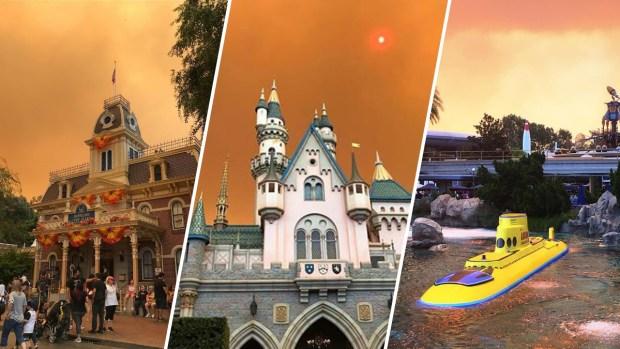 El cielo sobre Disneyland cambió de color por el incendio