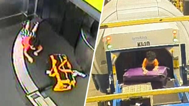 [TLMD - NATL] Conmovedor: madre y niño herido reunidos tras peligrosa travesura