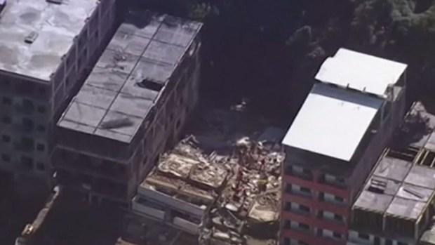 Se desploman dos edificios en Brasil