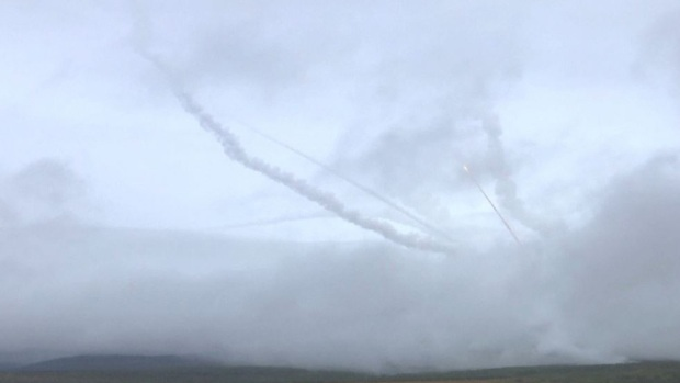 Impresionantes ejercicios militares rusos
