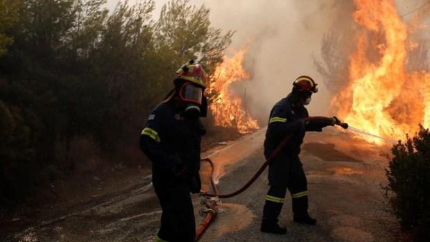 Incendios asesinos en Grecia