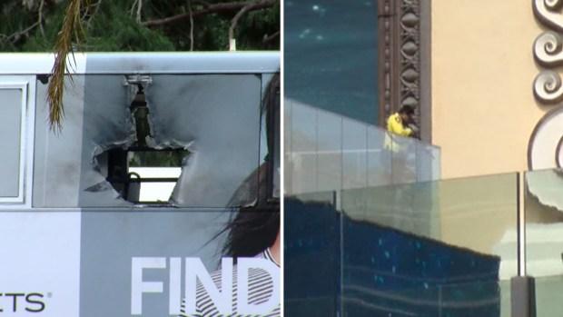 Caos en zona turística Las Vegas por dos incidentes