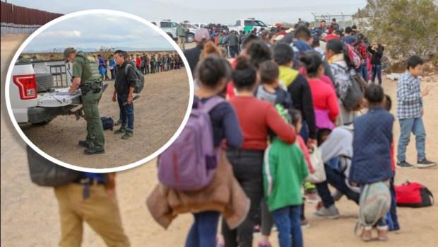 [TLMD - NATL] Cientos de migrantes cruzan la frontera