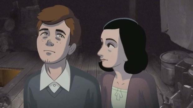 Película animada narra la historia de Ana Frank