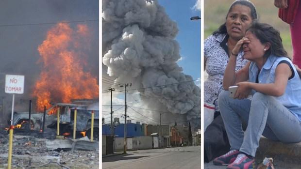 Tragedia: muerte y destrucción en mercado de México