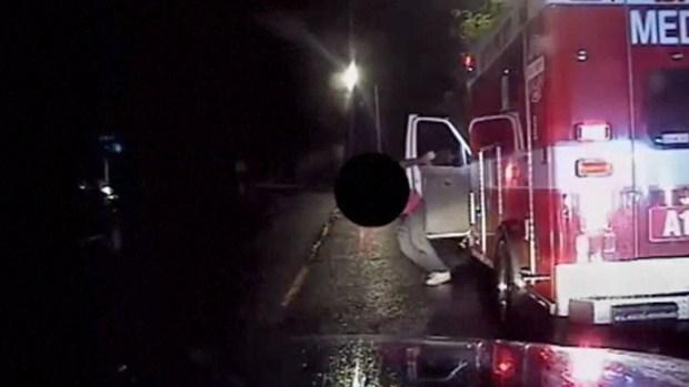 Roba ambulancia, huye y lo atrapan, herido