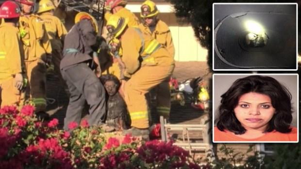 Video: Chismosa queda atrapada en chimenea