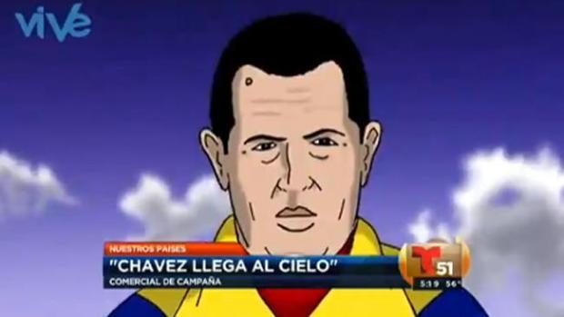 Video: Un Chávez sonriente  llega al cielo