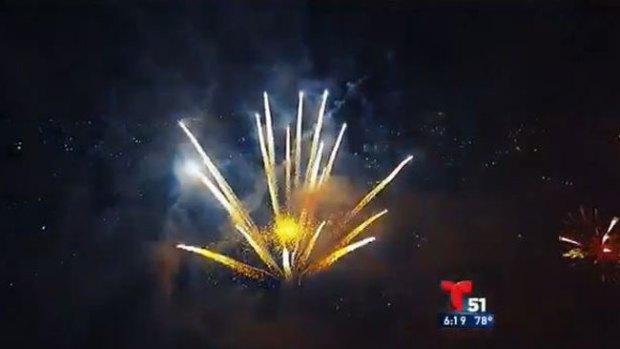 Video: Drone capta festival de fuegos artificiales