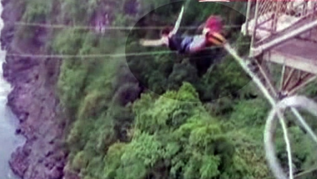 "Video: Maldito salto de ""Bungee"""