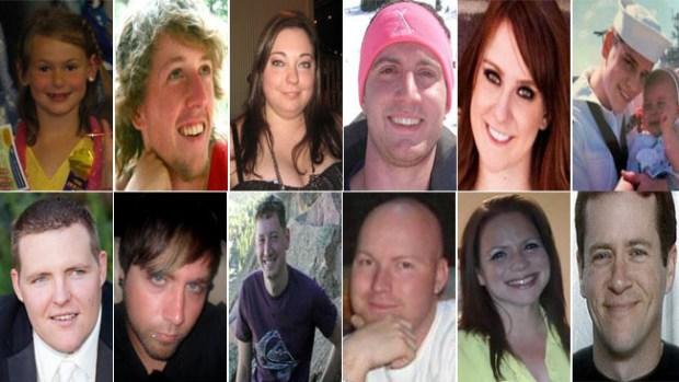 Las 12 víctimas del tiroteo en el cine de Aurora