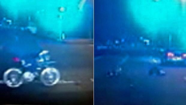 Video: Paseo en bicicleta termina en horror