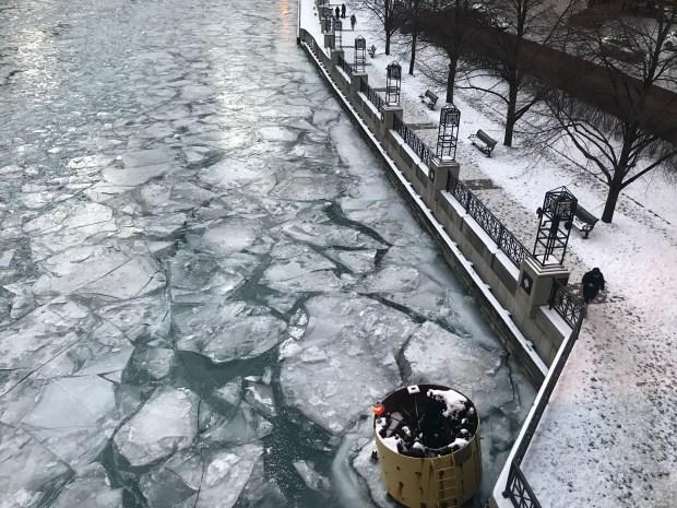 Frío despiadado: así luce Chicago en esta peligrosa helada