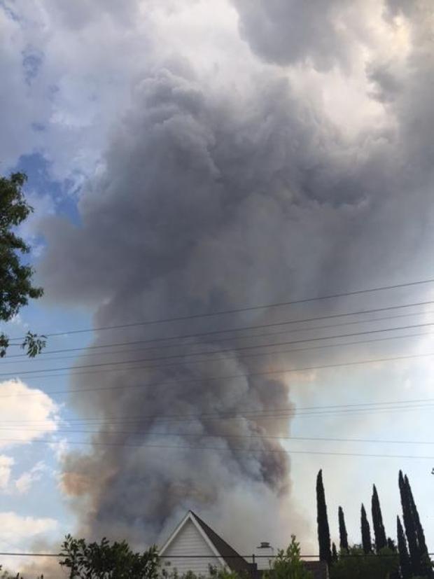 Imágenes impactantes del voraz incendio en La Tuna