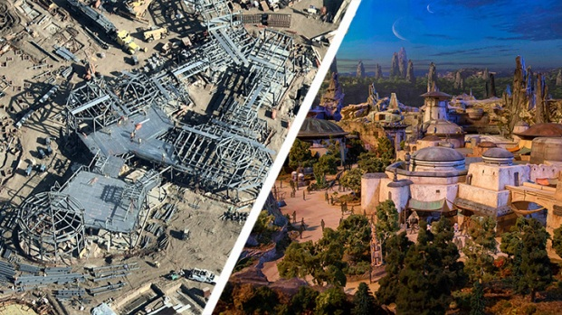 La Guerra de las Galaxias desde los cielos de Disneyland
