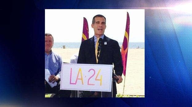 Video: Alcalde de L.A. viaja para lograr Juegos Olímpicos