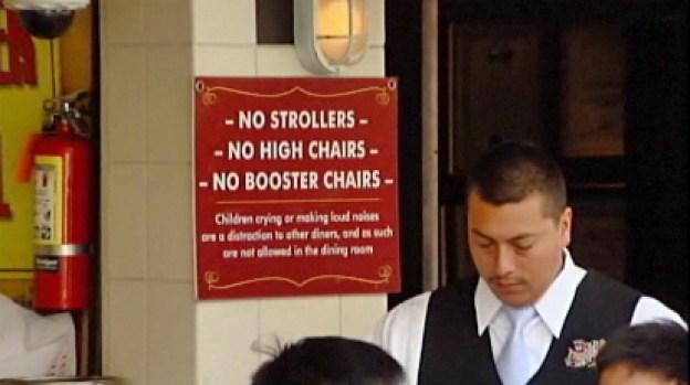 Video: NO niños ruidosos en este restaurante