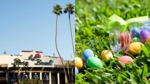 Ochenta mil huevos llenarán el campo del Rose Bowl