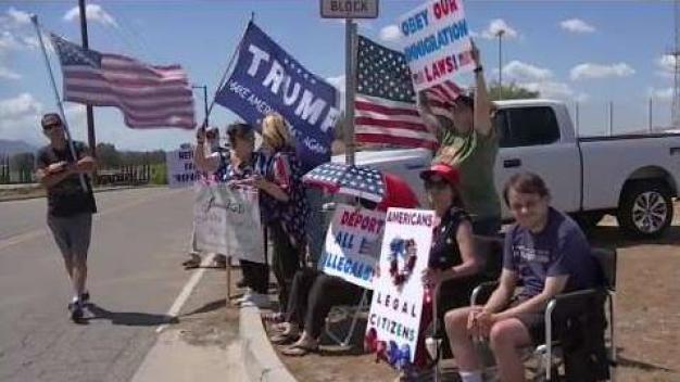 Protestas por presencia de inmigrantes indocumentados