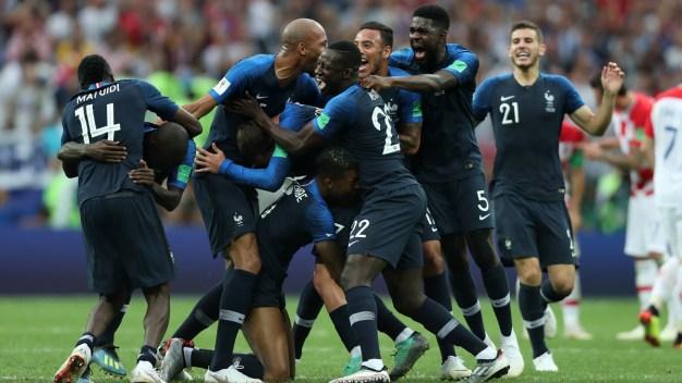 Así estallaron los jugadores de Francia tras el pitazo final