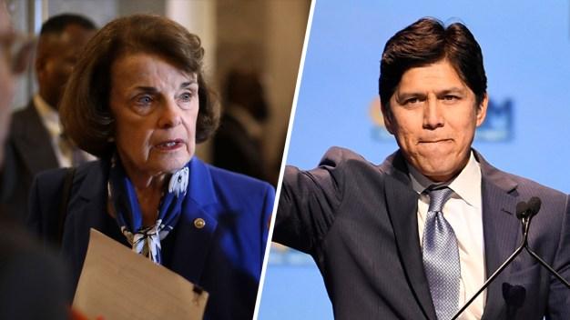 Los demócratas Feinstein y De León listos para el debate