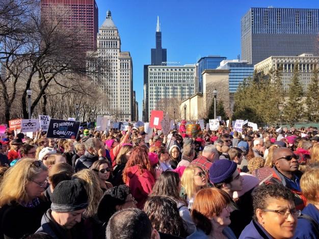 250 mil personas marcharon en Chicago