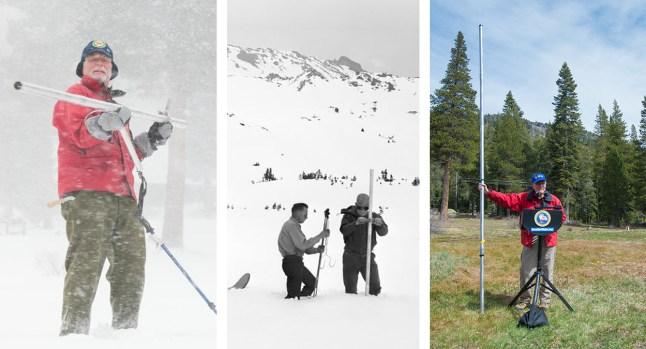 Acumulación de nieve en California a través de los años