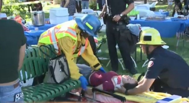 Niños heridos mientras rompían una piñata