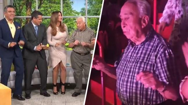 """Abuelito que enamoró a Shakira baila en """"Un nuevo día"""""""