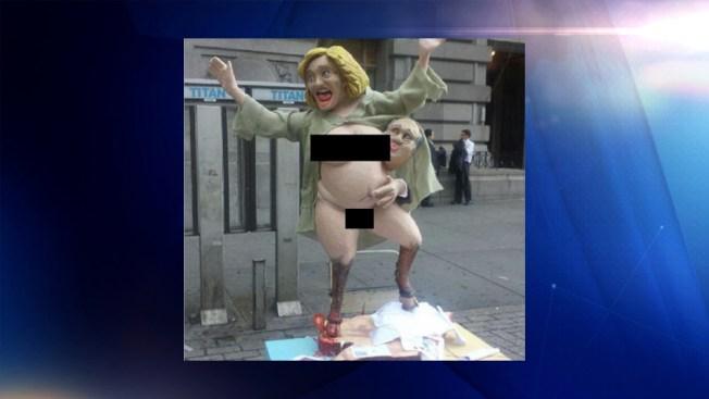 Pequeño revuelo en Nueva York por estatua que representa a Hillary Clinton