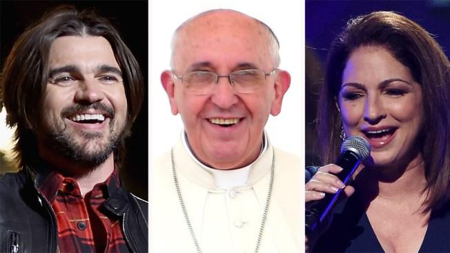Juanes y Gloria Estefan cantarán para el Papa