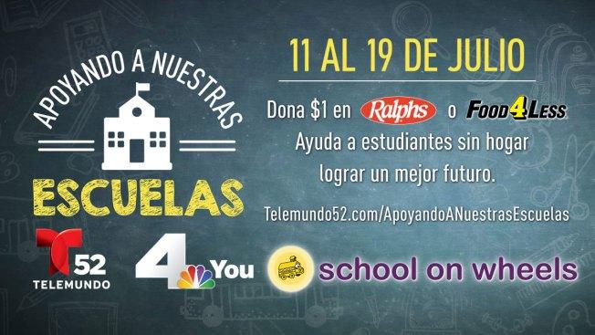 """Telemundo 52 Los Angeles y NBC4 Southern California presentan su tercera campaña anual de """"Apoyando a Nuestras Escuelas"""""""