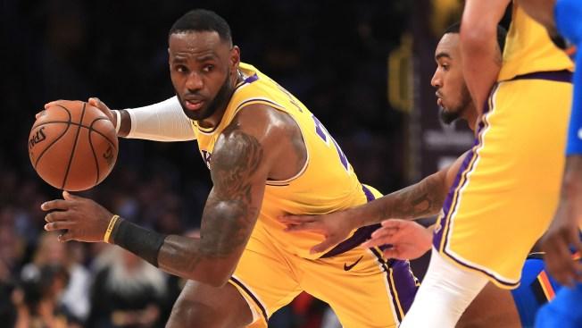 LeBron fija récord de triple-doble, Lakers vencen a Thunder