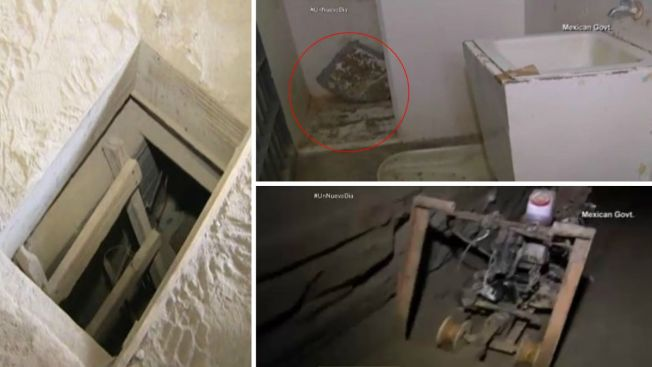 """Nuevas imágenes del túnel de fuga de """"El Chapo"""""""