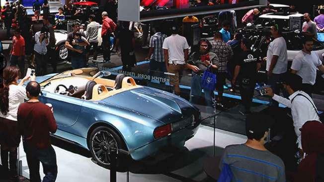 Gran exposición de autos en Los Ángeles