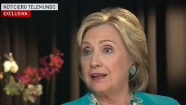 """Hillary Clinton: """"No separaré familias"""""""