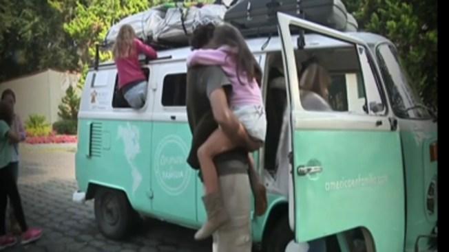 Familia argentina, en furgoneta para ver al Papa