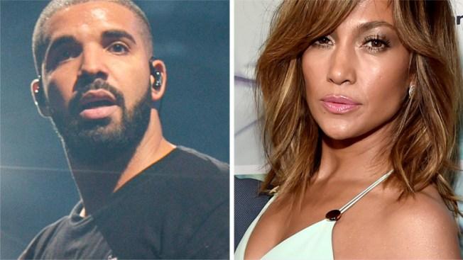 Jennifer Lopez y Drake celebran su romance con un beso — Instagram