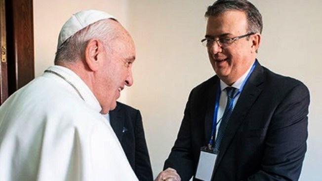 Canciller: Papa concuerda con política social de AMLO