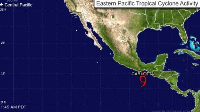 Carlotta, es un huracán