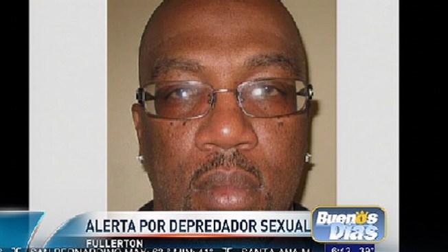 Alerta por ofensor sexual en Fullerton