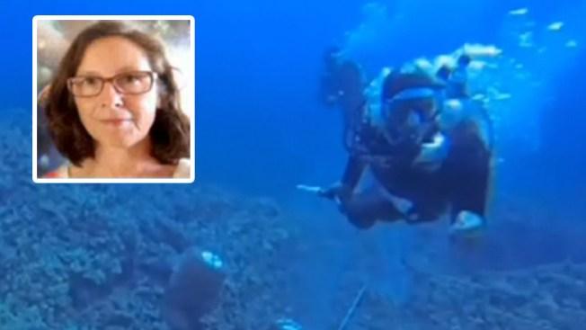 Lucha por oxígeno a 50 pies bajo el agua