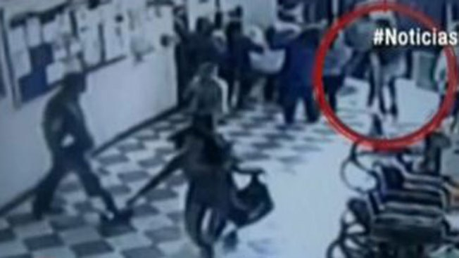 Balas entre ladrones y policía en hospital