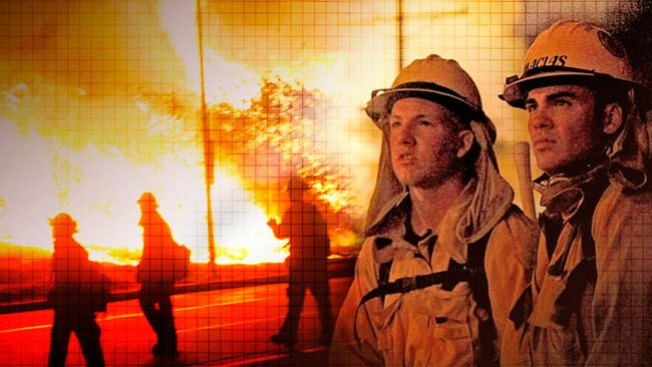 Importante entrenamiento de bomberos