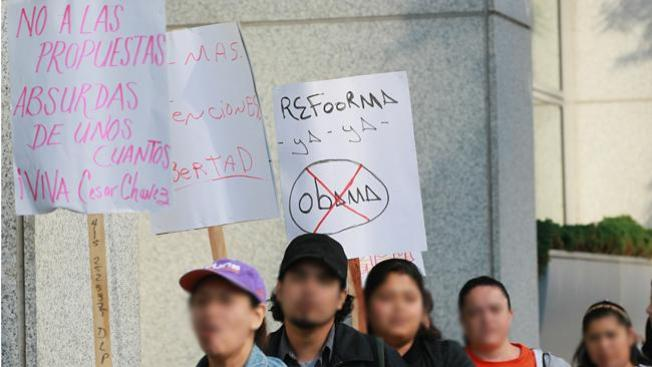 """Protesta contra """"Comunidades Seguras"""""""