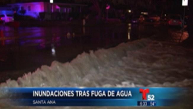 Fuga de agua afecta a Santa Ana